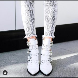 Jeffrey Campbell Caceres White Booties